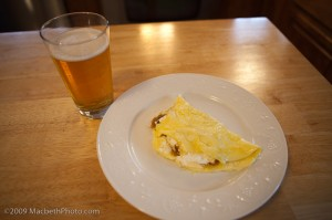 beer with omelet