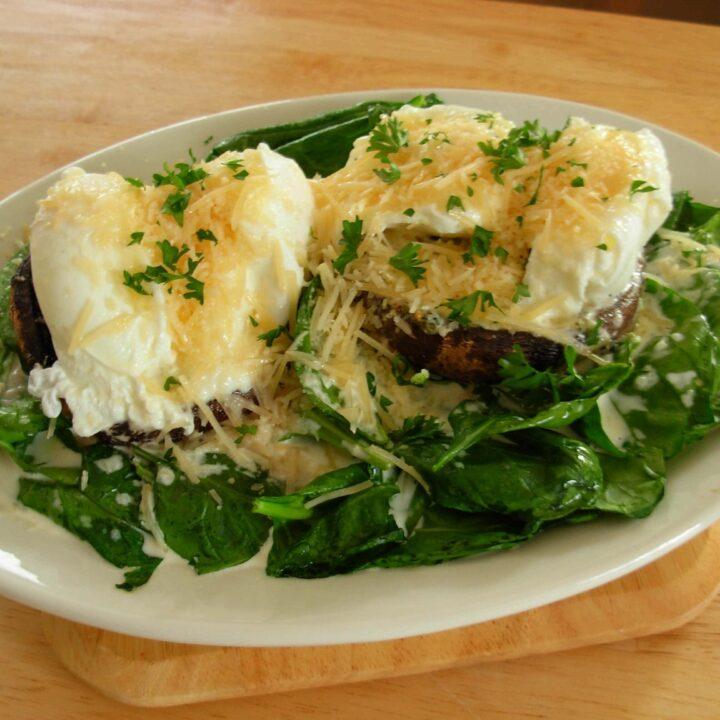 Breakfast Baked Portobello Mushrooms