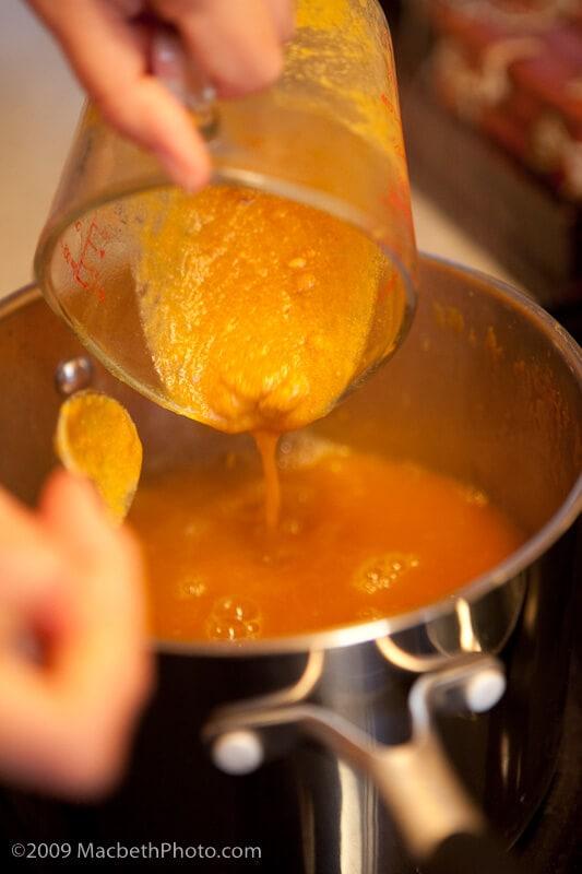 how to clean pumpkin soup off carpet