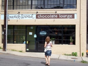 entering the chocolate lounge