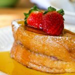 Ricotta & Raspberry Stuffed French Toast