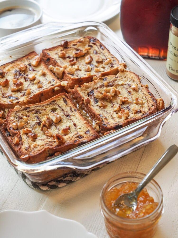 Baked Cinnamon French Toast - TheTravelBite.com