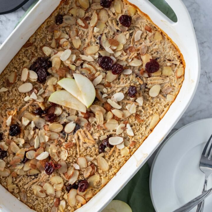 Cherry Almond Oatmeal Bake