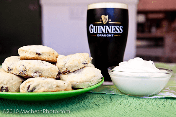 March Food Holidays: Photo of Guinness with Irish Scones