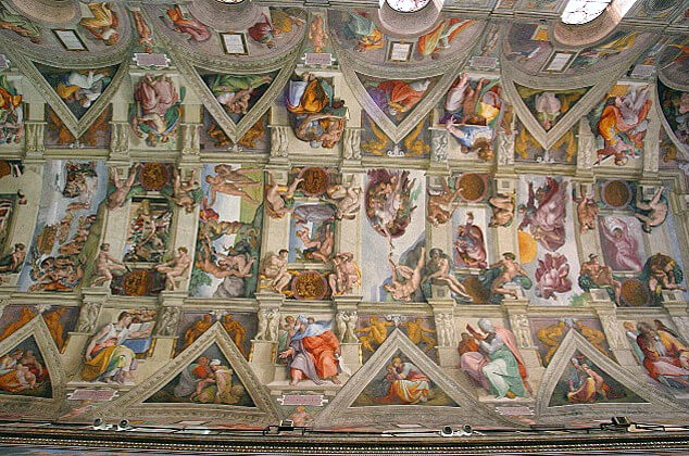 Sistine Chapel Ceiling Photo Credit:  Wiki Creative Commons