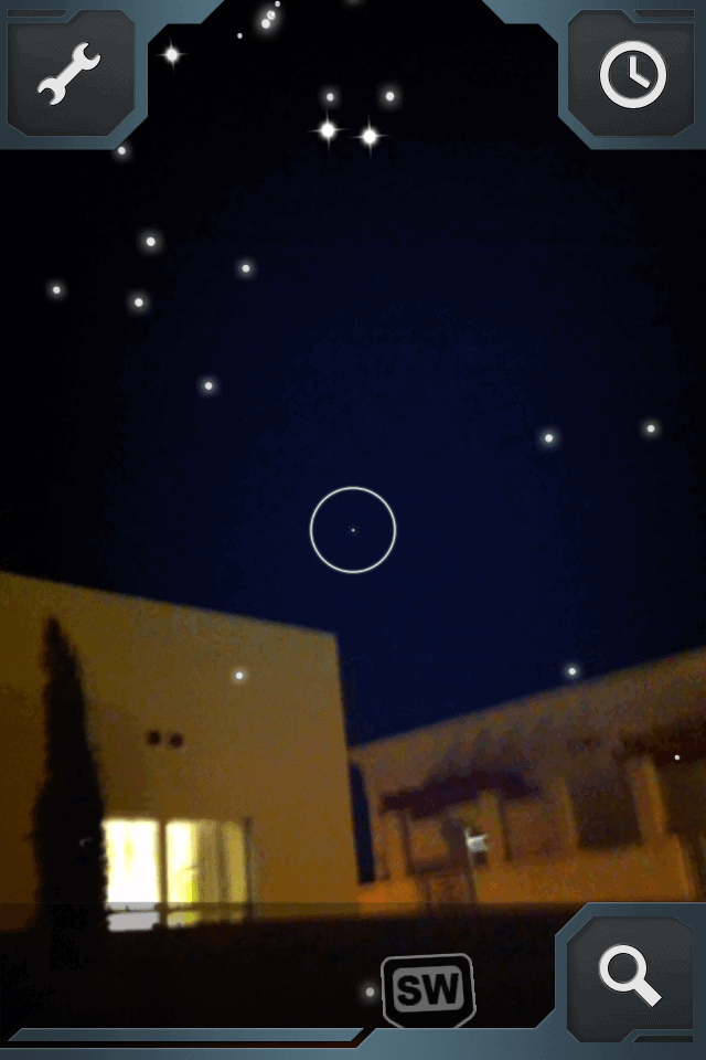 Night Sky at The Anglers as viewed from my phone app.