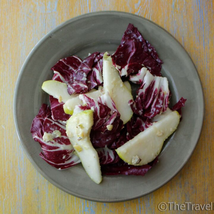 Pear Walnut and Radicchio Salad