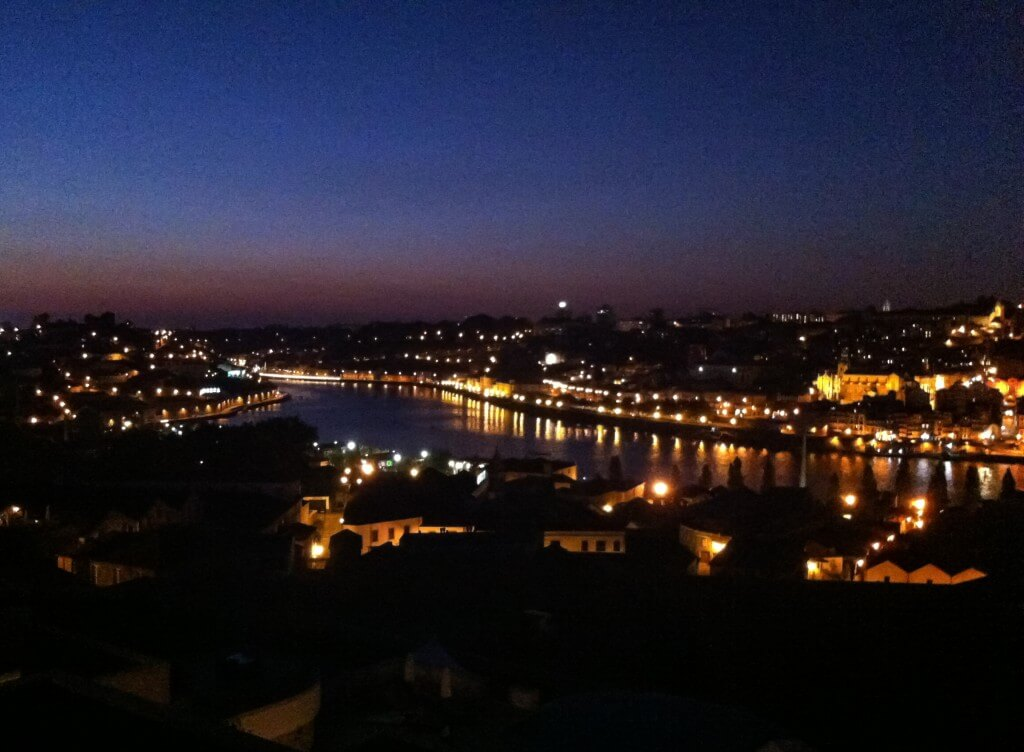 Sunset In Porto.  Credit:  Peter Wallace