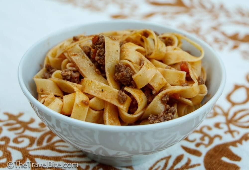 Pasta Bolognese Sauce Recipe - TheTravelBite.com