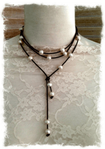 Leather and Pearl Necklace - Gifts For Travelers