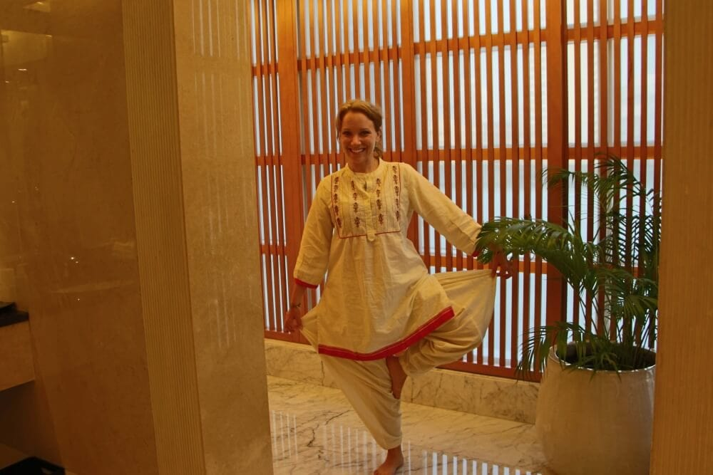 Rachelle In Indian Yoga Clothes