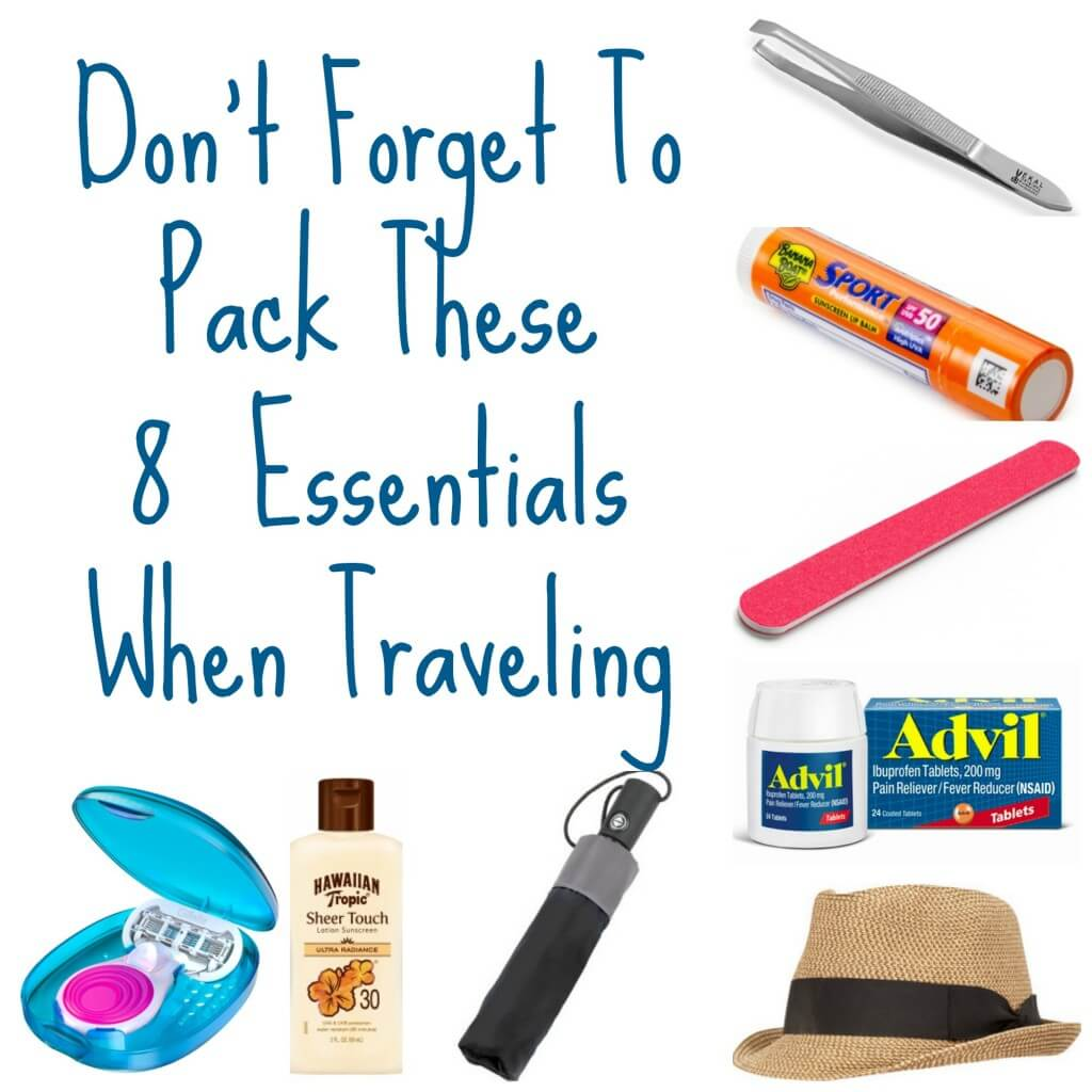 Don't Forget To Pack These 8 Things