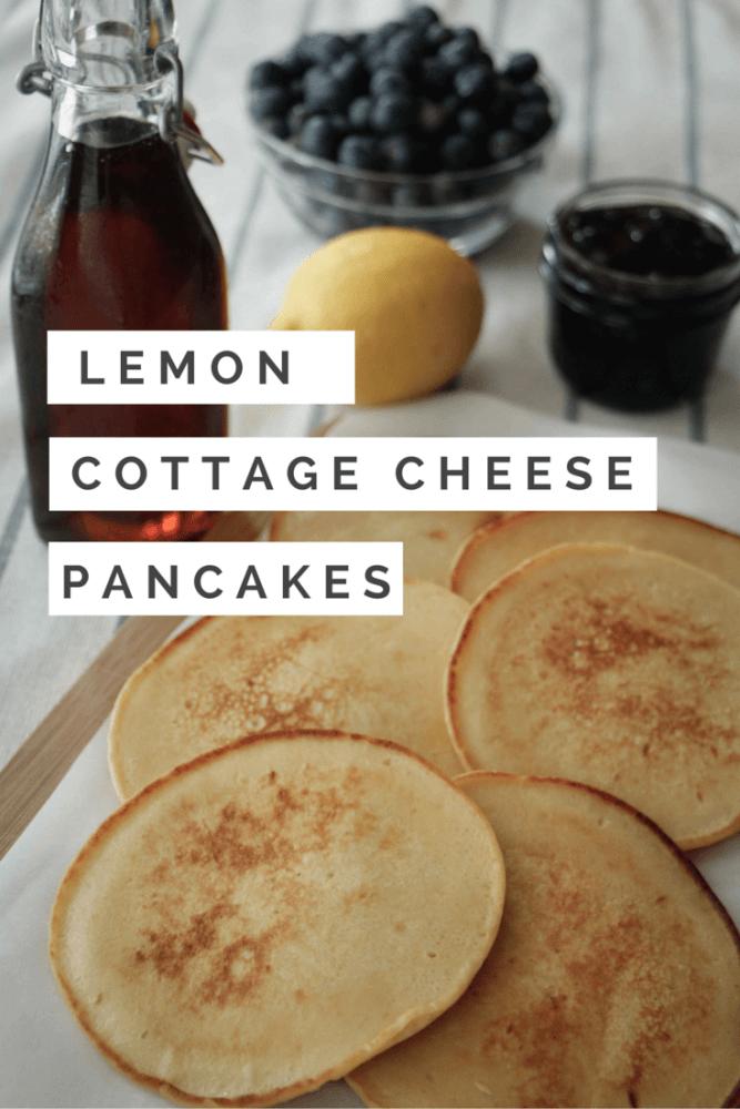 Lemon Cottage Cheese Pancakes