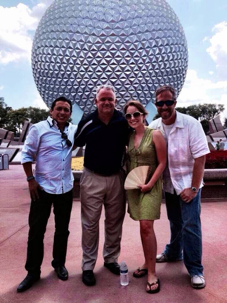 Epcot with Brian Justice and Isaac