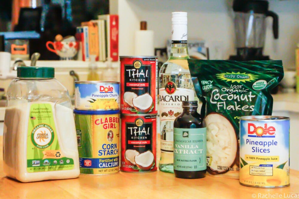 Ingredients for Coconut Ice Cream
