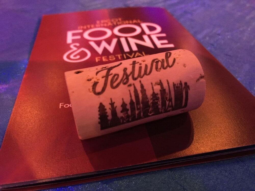 EPCOT Food & Wine Festival Commemorative Cork