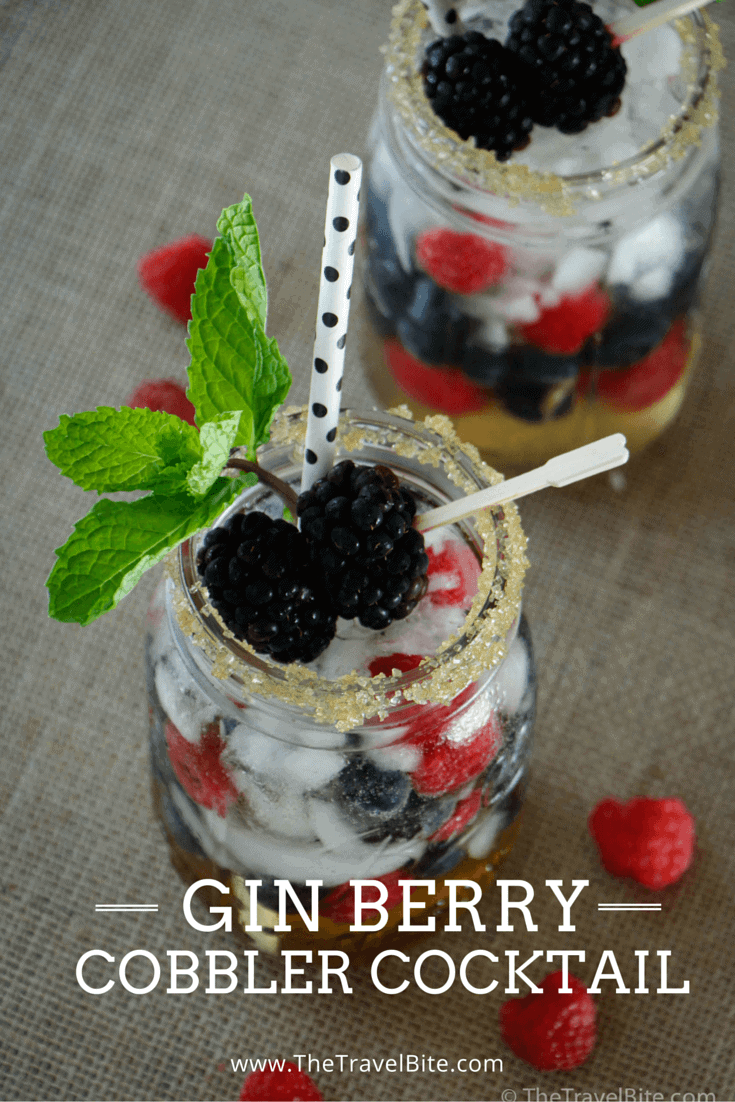 Gin Berry Cobbler Cocktail Pinterest Pin