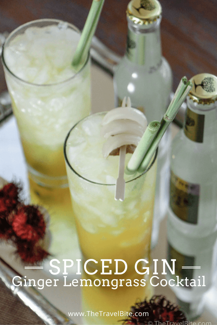 Spiced Gin - Ginger Lemongrass Cocktail