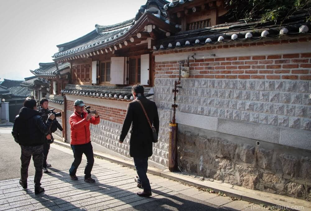 Filming in Bukchon Hanok Village Seoul