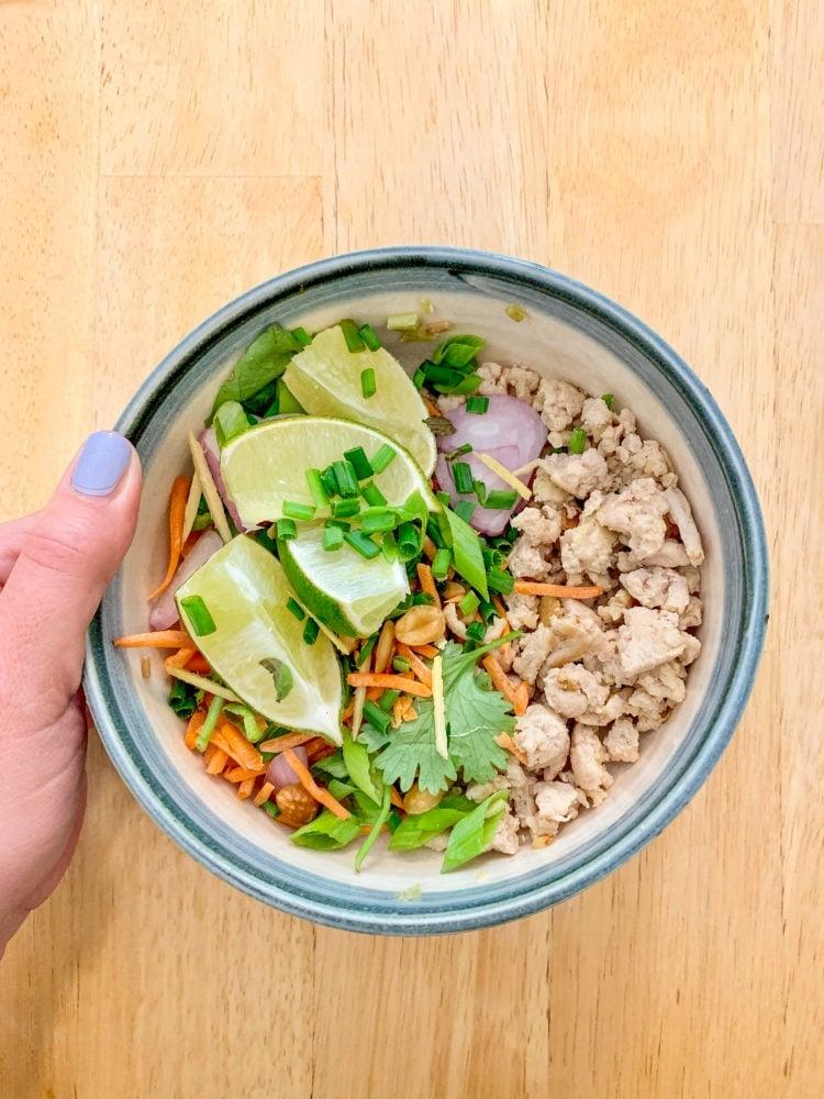 Thai Nam Sod: Ginger Lime Ground Pork Recipe
