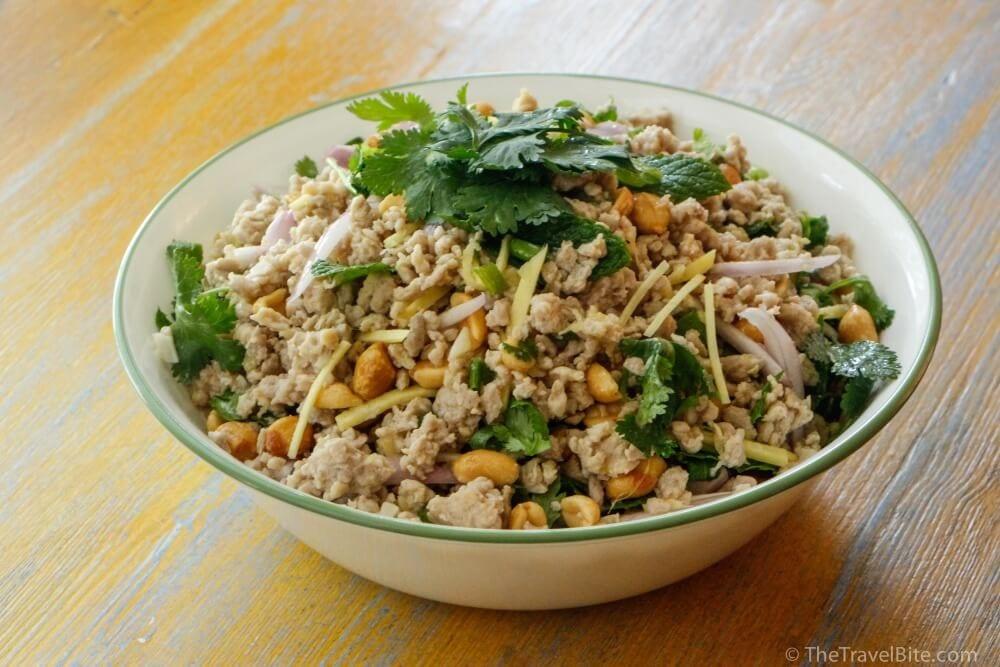 Thai Nam Sod Ground Pork Recipe