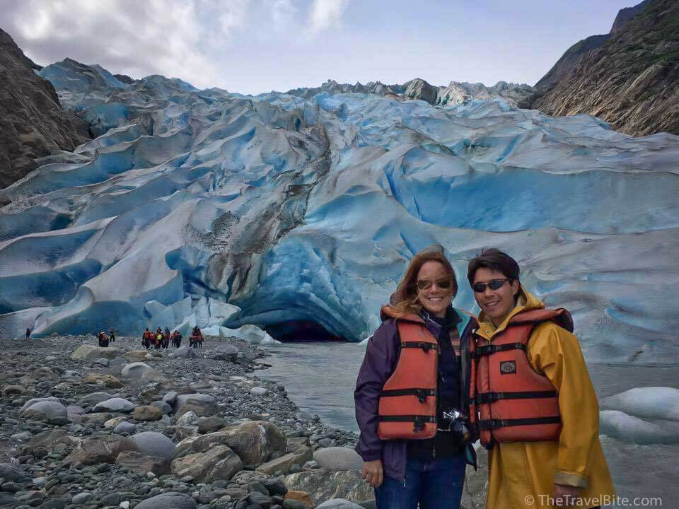 Pete and Rachelle in front of Davidson Glacier.