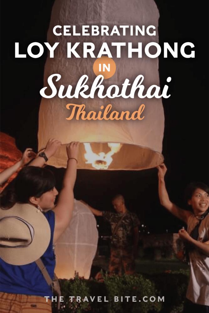 Loy Krathong Sukhothai Thailand