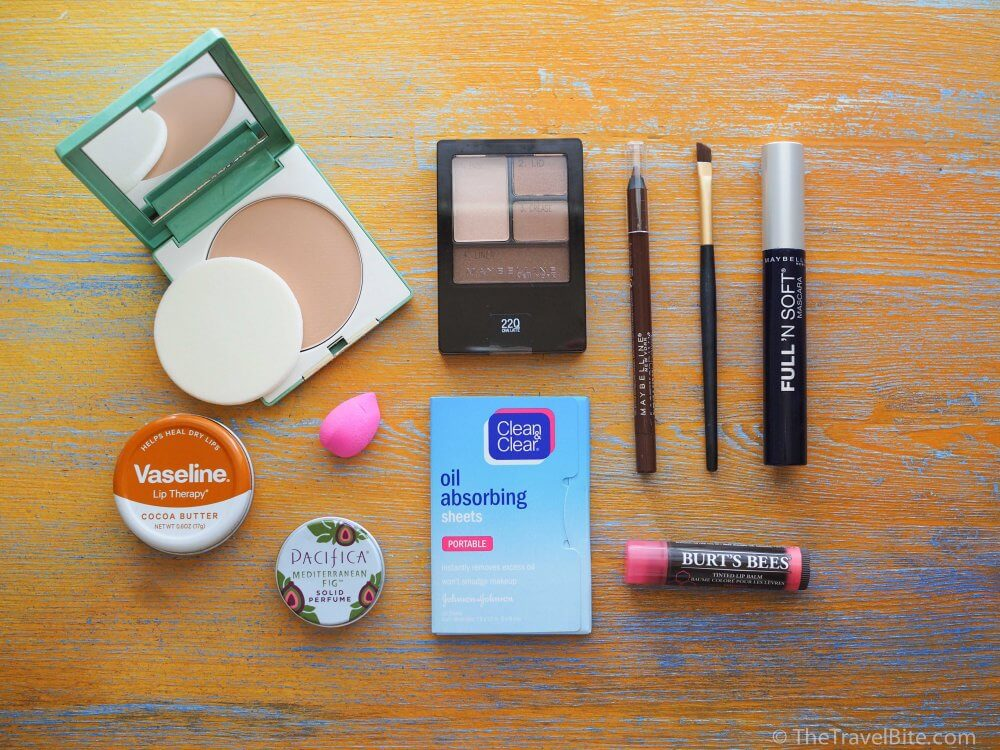 Travel Makeup Kit Essentials TheTravelBite.com