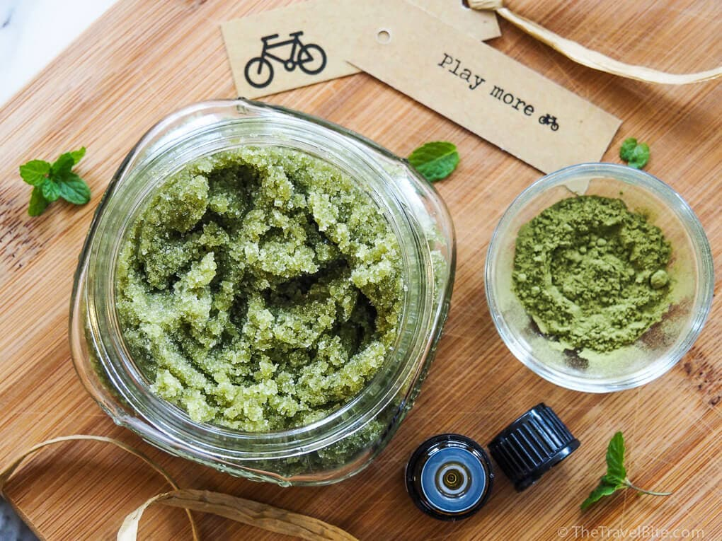 Green Tea Mint Sugar Scrub