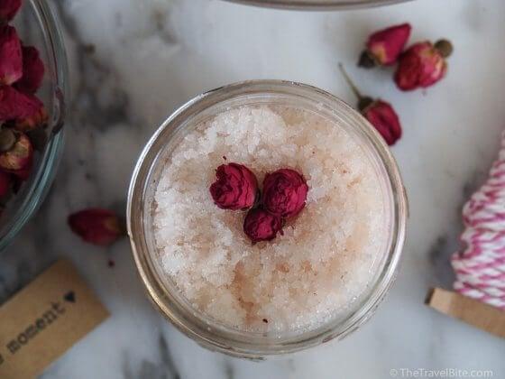 rose water sugar scrub