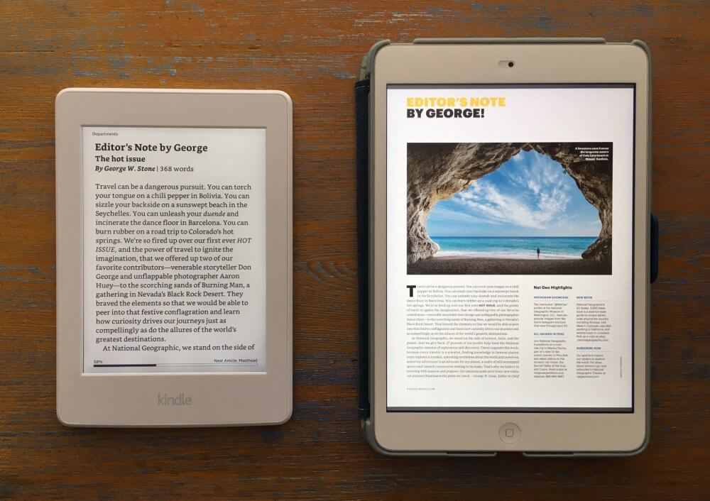 Kindle vs iPad - Best Tablets For Travel
