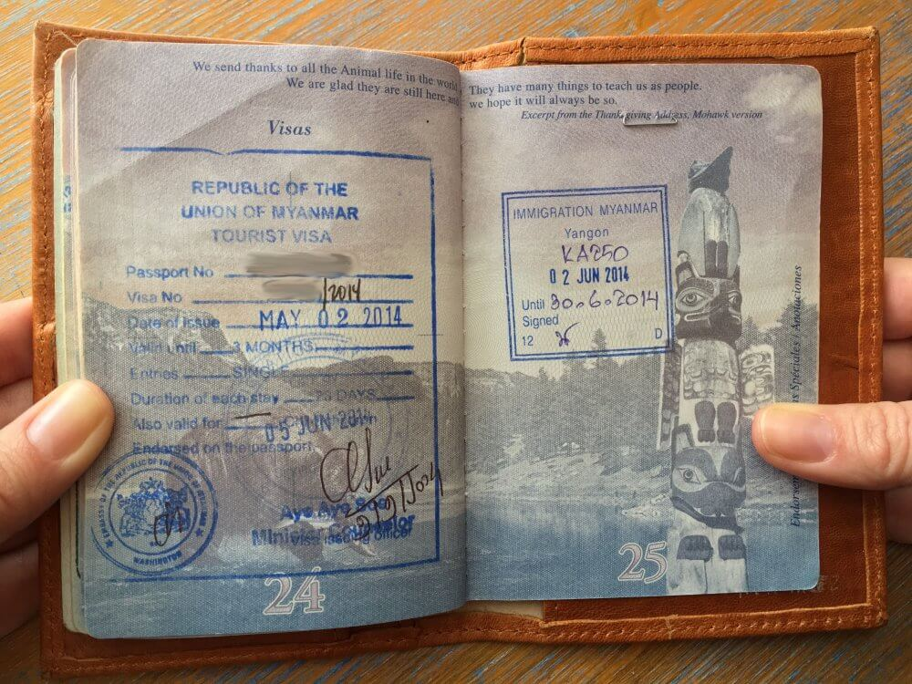 Passport vs visa whats the difference the travel bite visa on arrival stamp for entry for myanmar thecheapjerseys Images