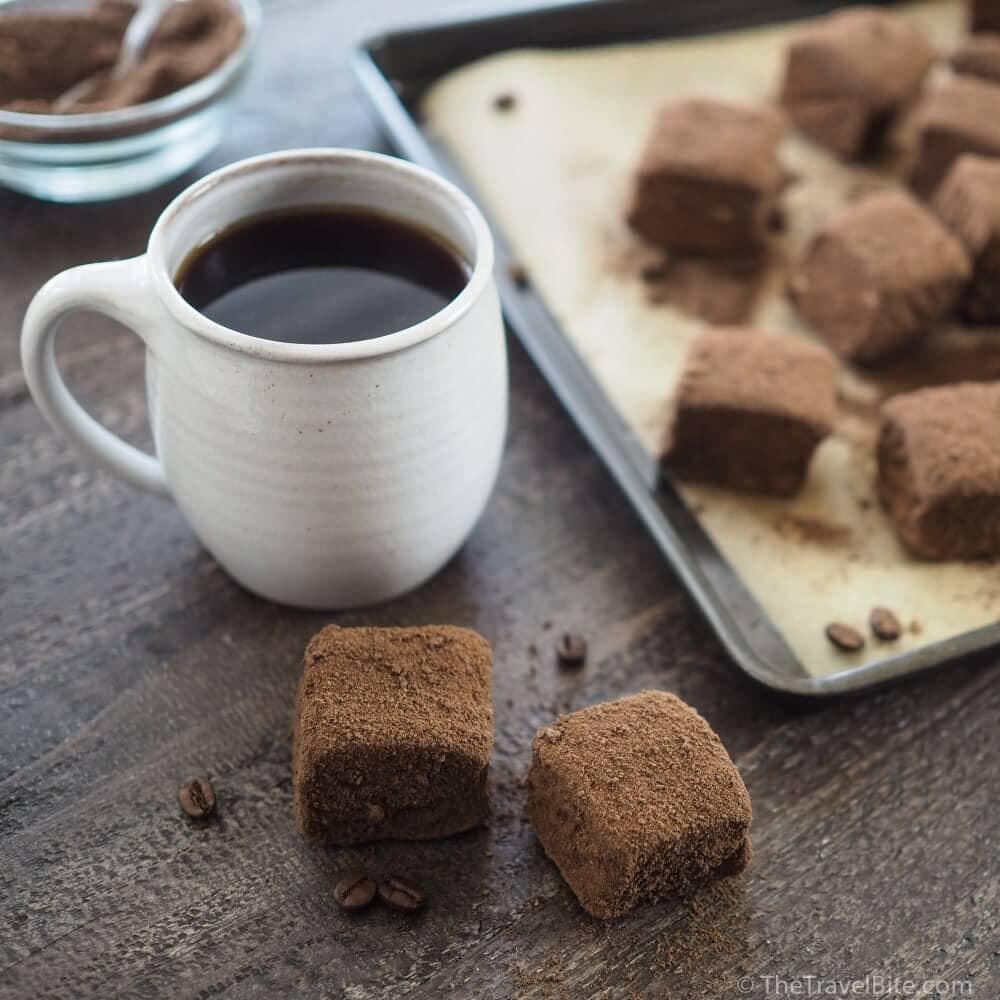 Homemade Mocha Marshmallows - TheTravelBite.com