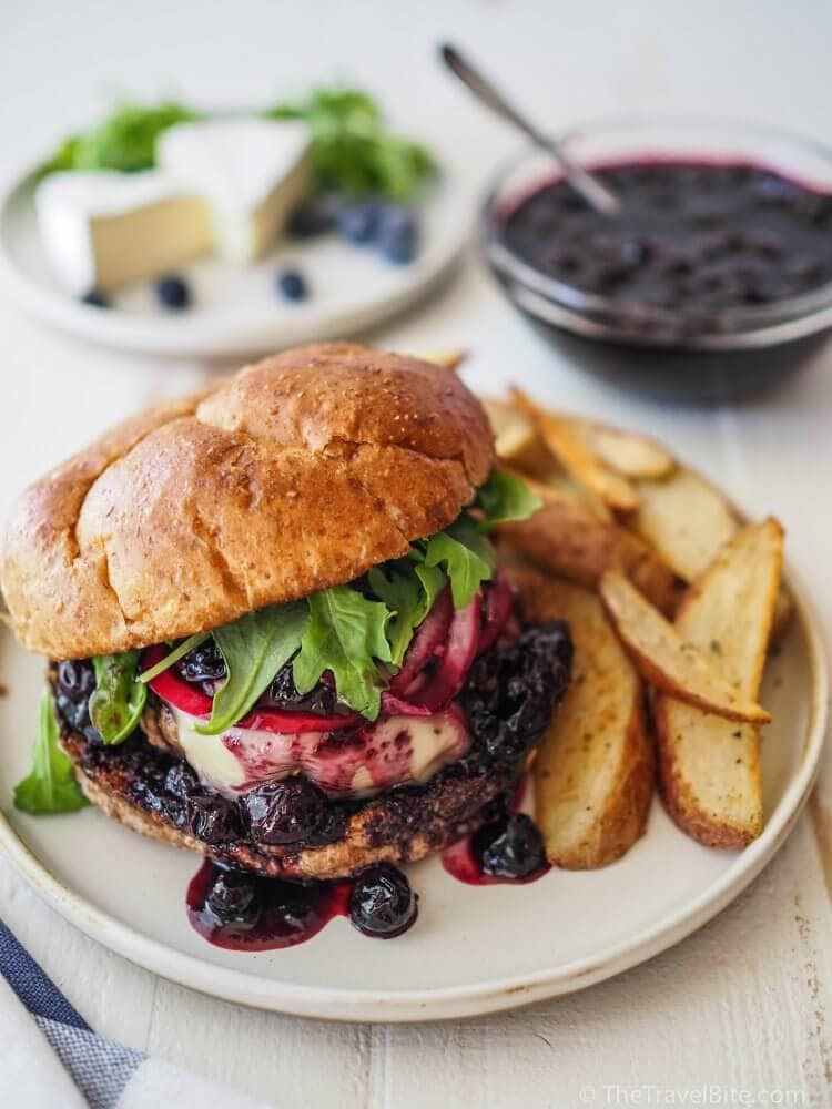 Gourmet Cheese Burger - Balsamic Blueberry and Brie!