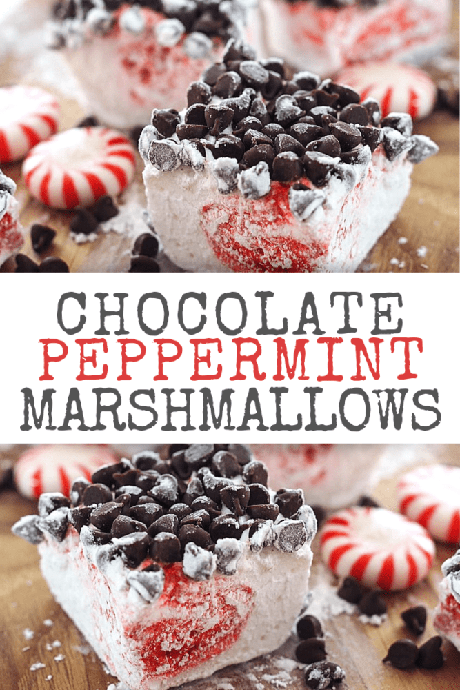 Peppermint Chocolate Marshmallows