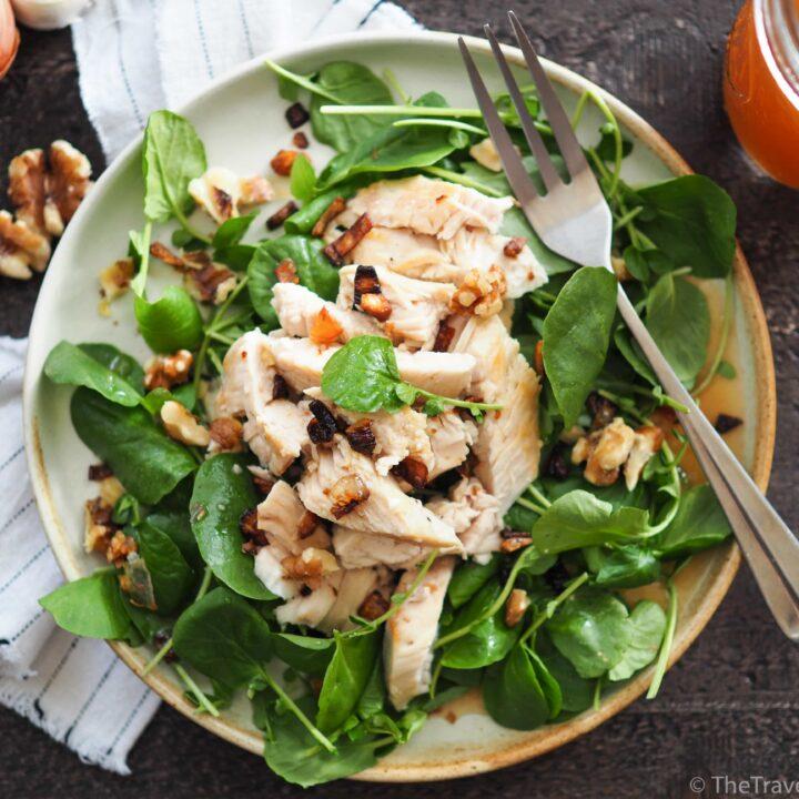 Autumn Salad - Apple Cider Chicken