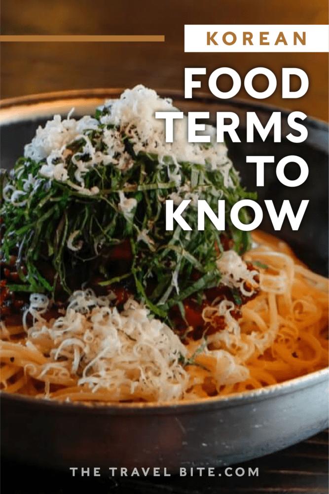 Korean Food Terms