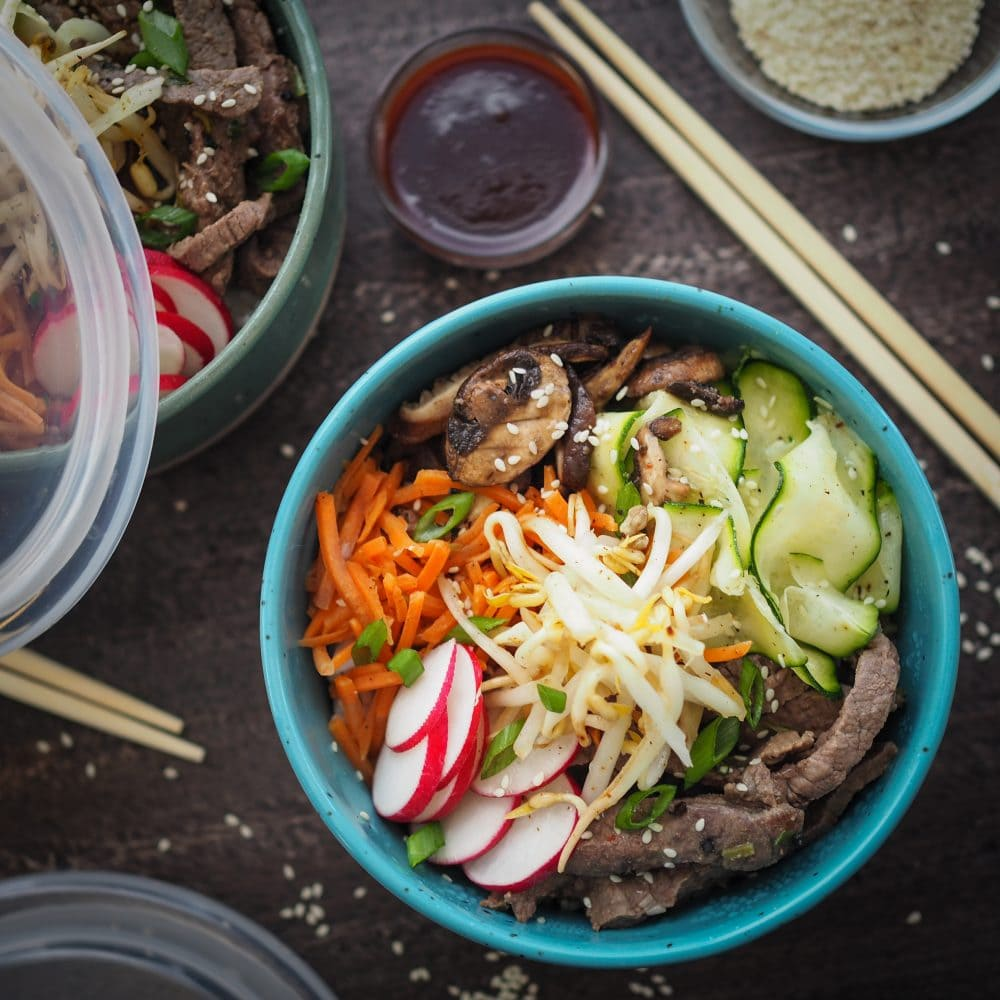 Easy Bibimbap Recipe - Korean Rice Bowls