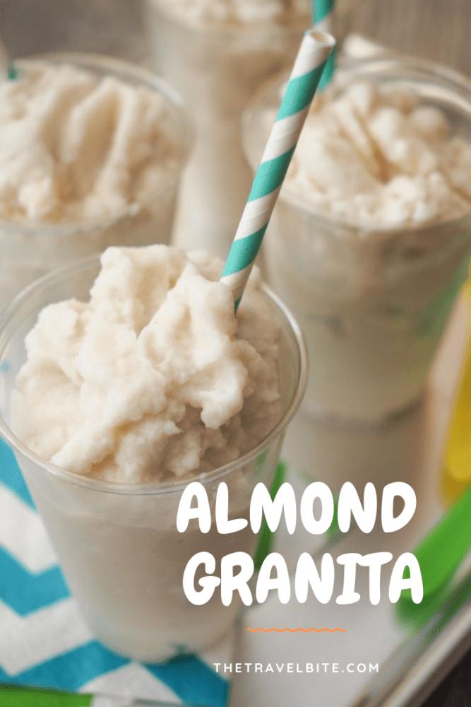 Almond Granita Recipe - TheTravelBite.com