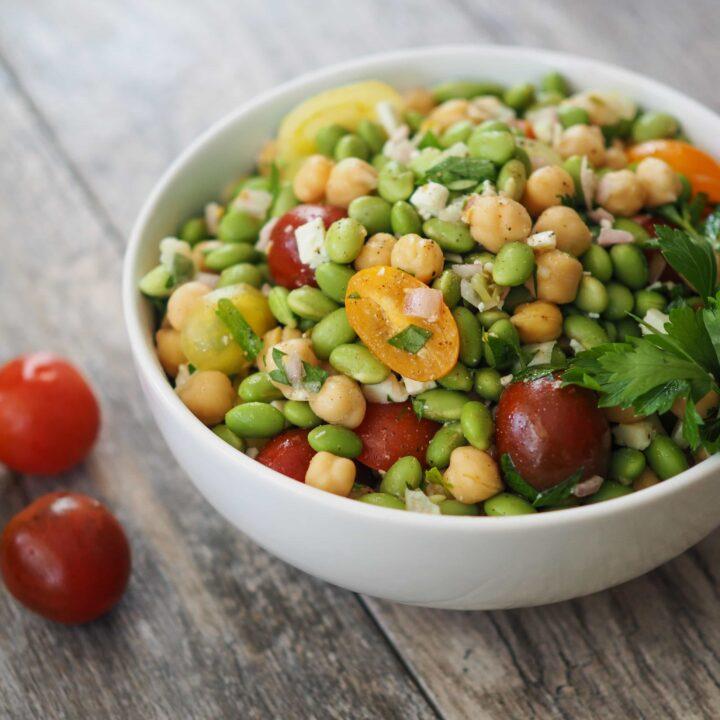 Edamame & Chickpea Salad