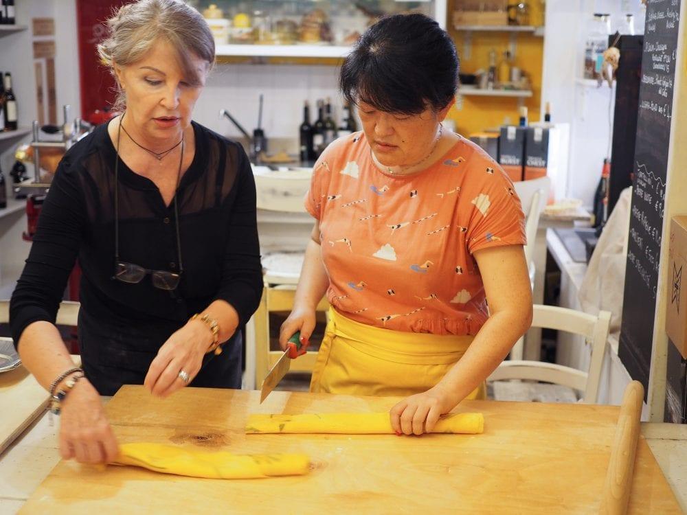 Pasta class inside La Bottega Di Via Montegrappa.
