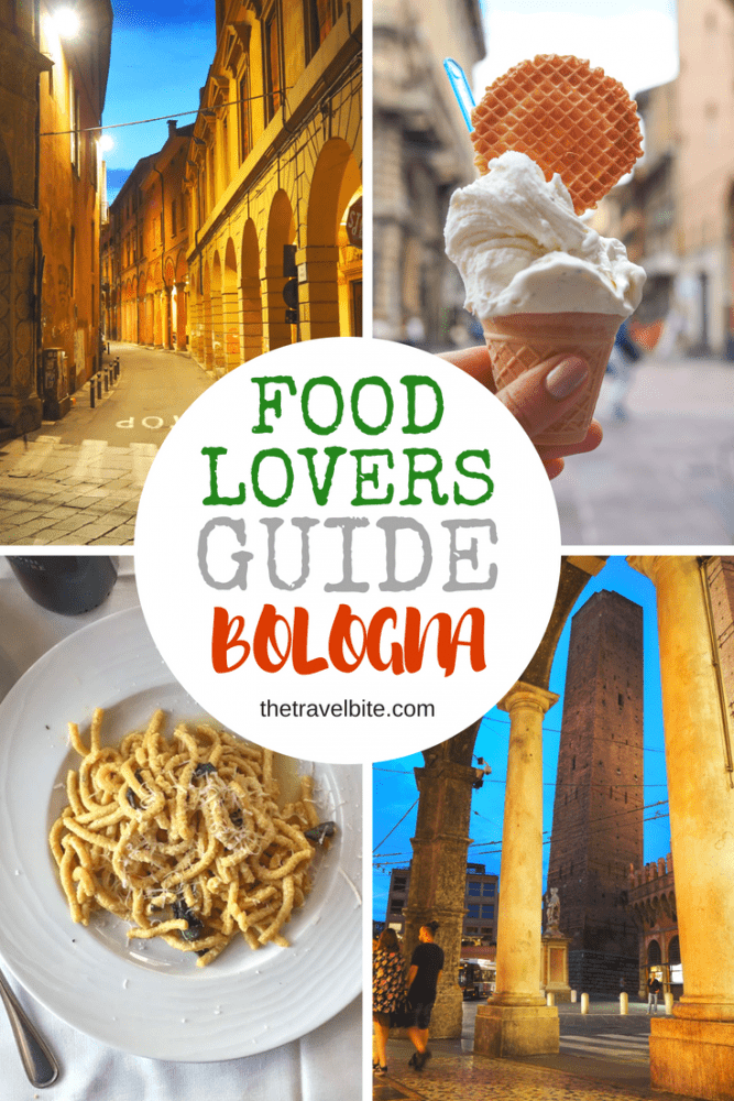 Bologna Food Lover's Guide Pinterest Pin.