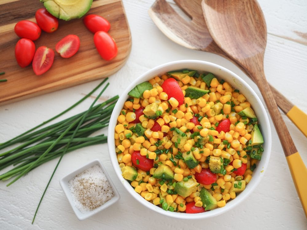 Corn Avocado Salad - The Travel Bite