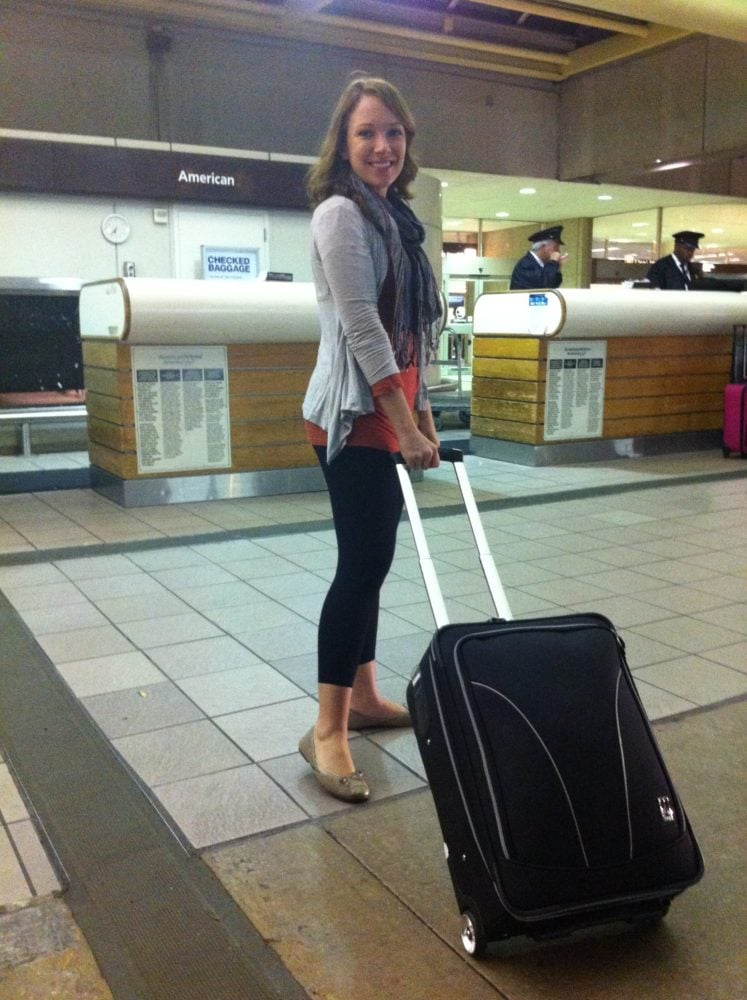 Rachelle At Airport