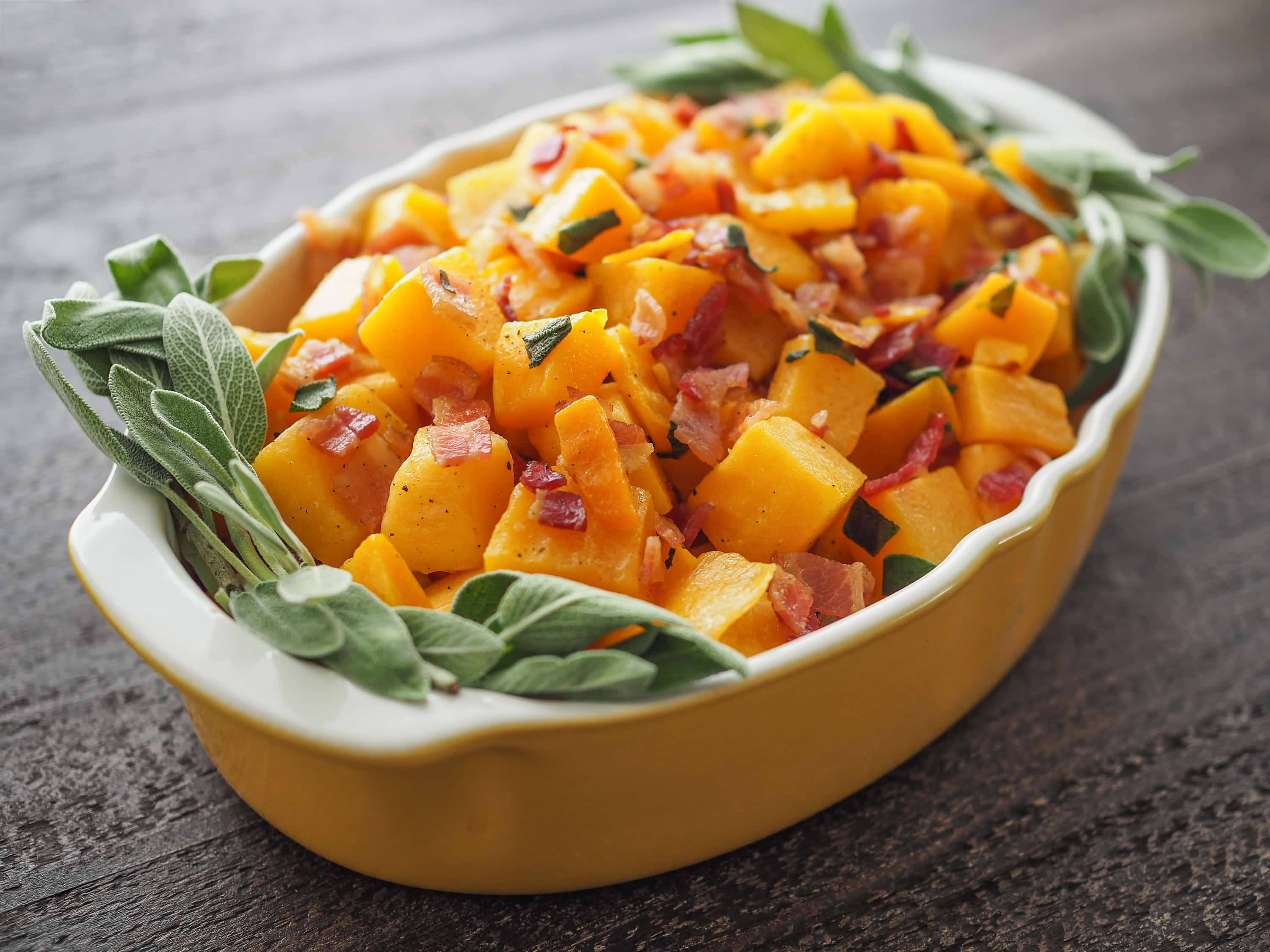 Whole 30 Butternut Squash, Bacon, & Sage