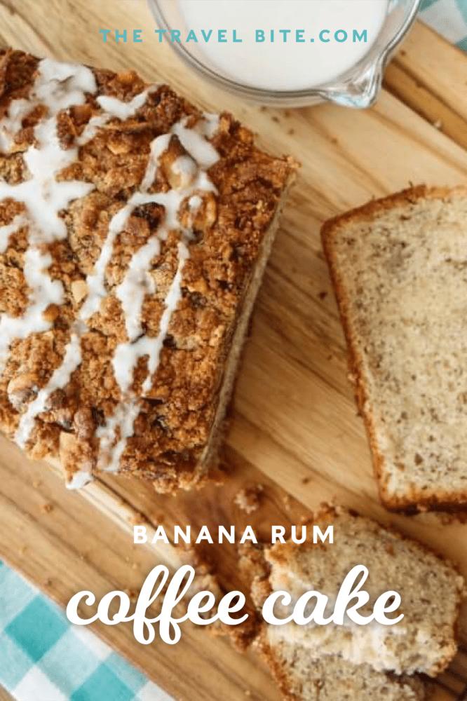 Banana Coffee Cake Overhead Pic For Pinterest
