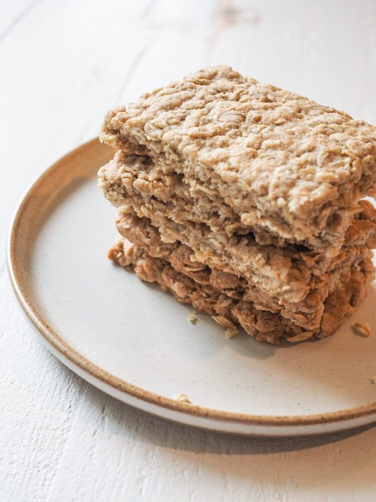 Nova Scotia Oatcakes Recipe - Finished Baked Oatcakes from TheTravelBite.com