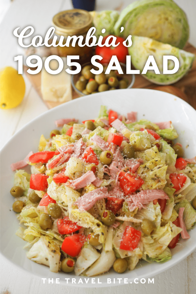 Pinterest Pin for Columbia's 1905 Salad