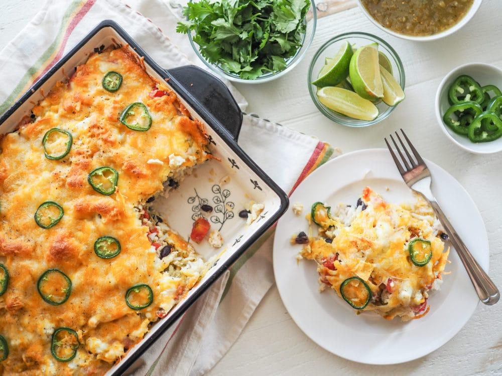 Chicken Enchilada Bake - TheTravelBite.com