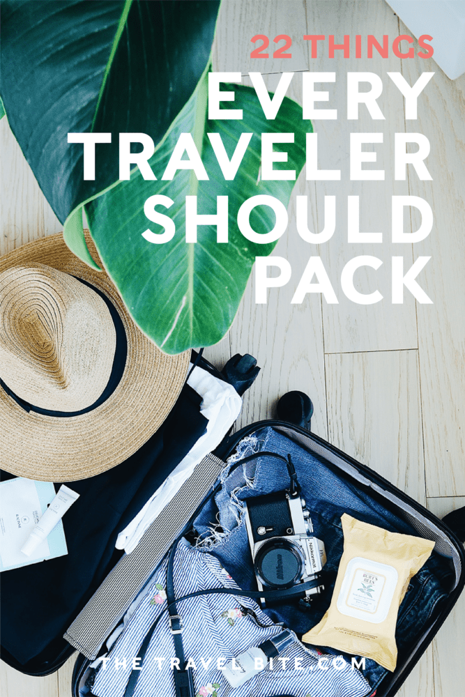 22 Travel Essentials You Should Pack For Your Next Trip - TheTravelBite.com